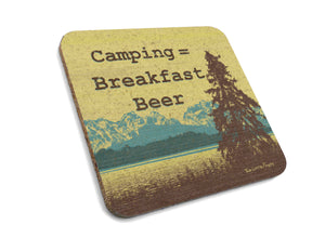 Camping Breakfast Beer Cork Coaster-Coasters-Two Little Fruits