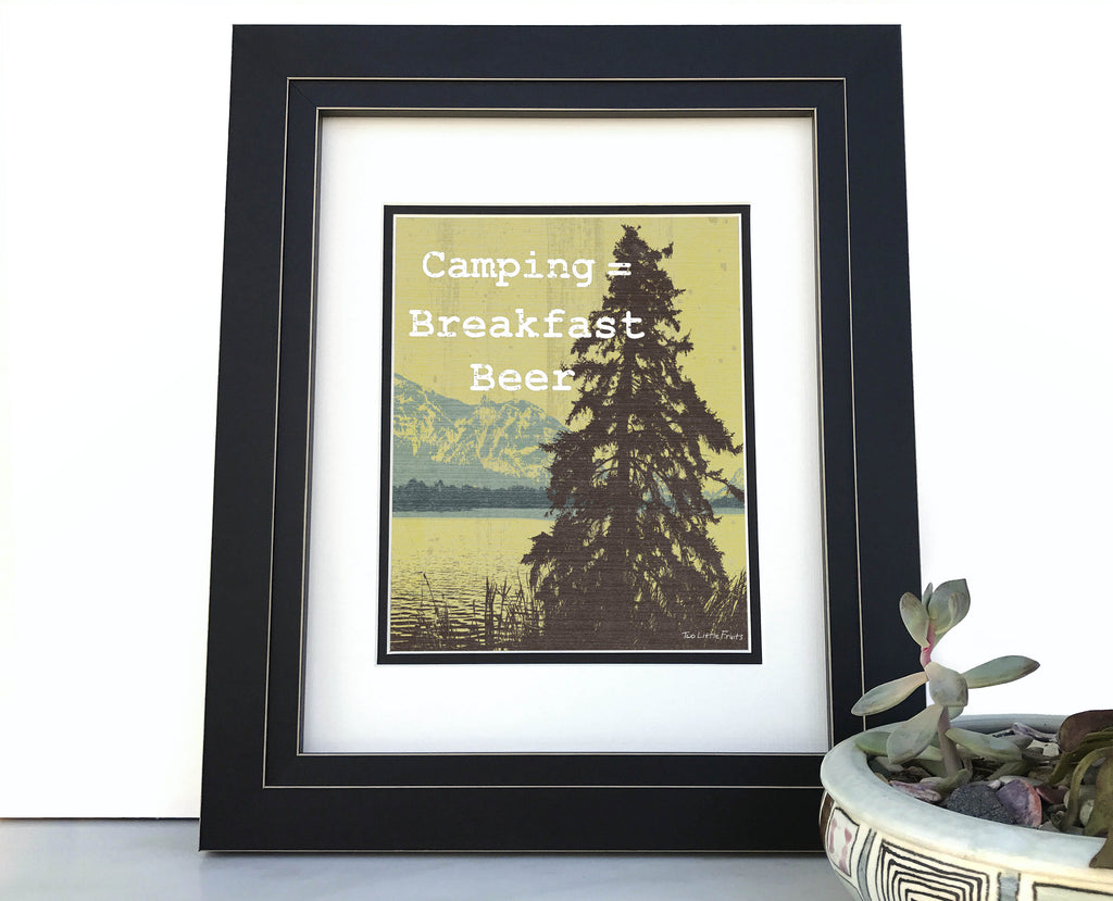 Camping Beer Humor Art Print, Paper Prints - Two Little Fruits