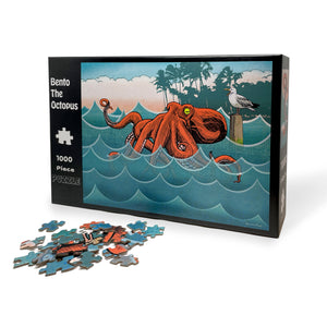 Octopus 1000 Piece Jigsaw Puzzle-Puzzles-Two Little Fruits
