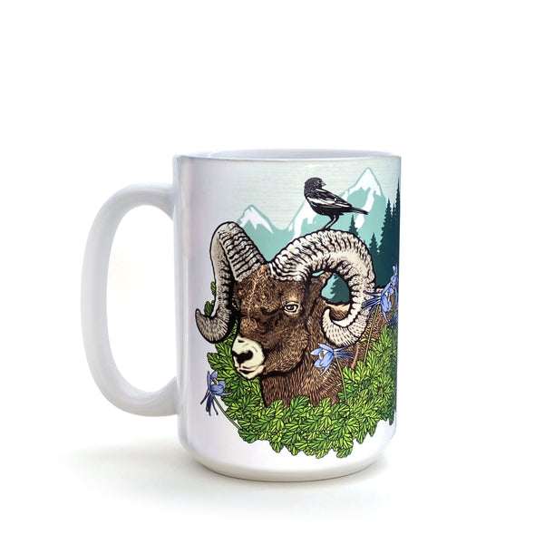 Colorado Bighorn Sheep Ram 15 Oz. Coffee Mug, Mug - Two Little Fruits