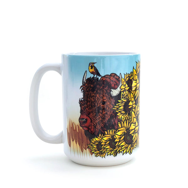 Bison 15 Oz. Coffee Mug, Mug - Two Little Fruits