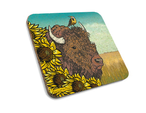 Bison Cork Coaster-Coasters-Two Little Fruits