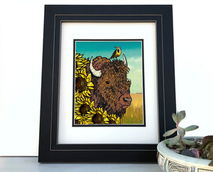 Bison Art Print-Paper Prints-Two Little Fruits