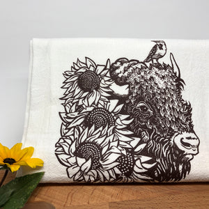 Bison Tea Towel-Tea Towels-Two Little Fruits