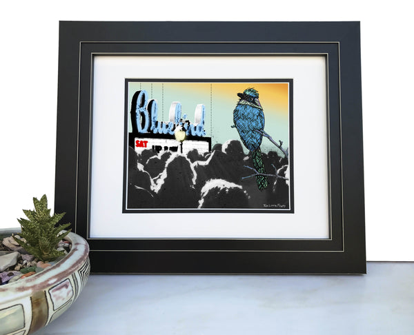 Bluebird Theater Art Print, Paper Prints - Two Little Fruits