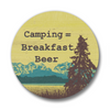 Camping = Breakfast Beer Matte Button Pin, Button Pins - Two Little Fruits