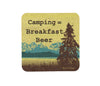 Camping Breakfast Beer Cork Coaster, Coasters - Two Little Fruits
