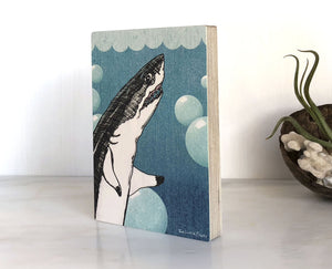 Shark 4x6 Wood Art Block-Art On Wood-Two Little Fruits