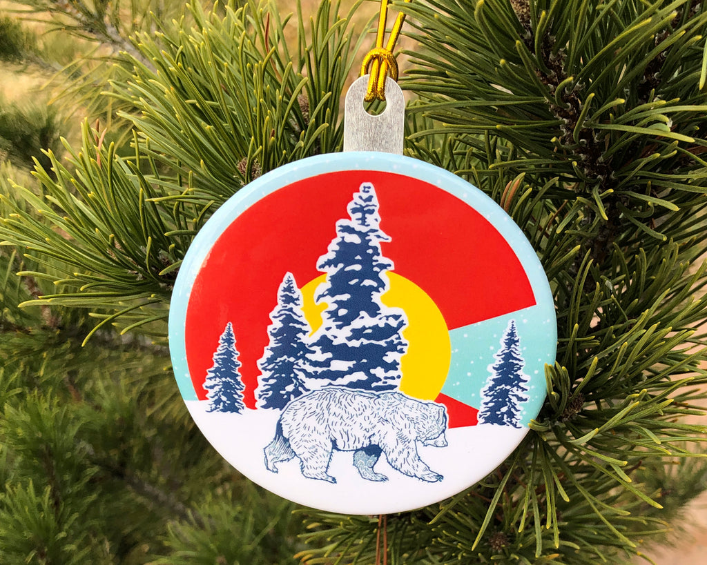 Colorado Bear Button Christmas Tree Ornament, Ornament - Two Little Fruits