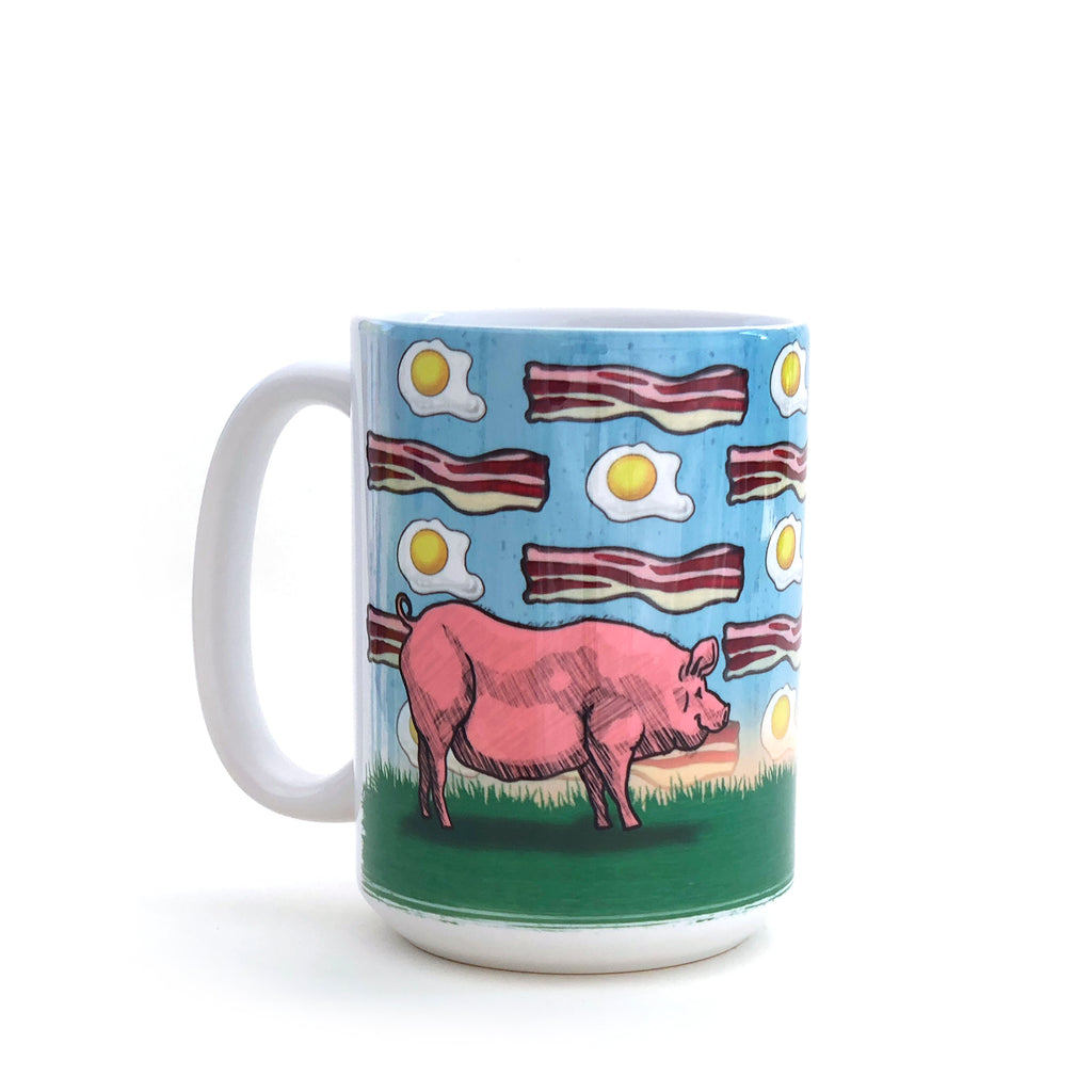 Pig Bacon & Eggs 15 Oz. Coffee Mug, Mug - Two Little Fruits