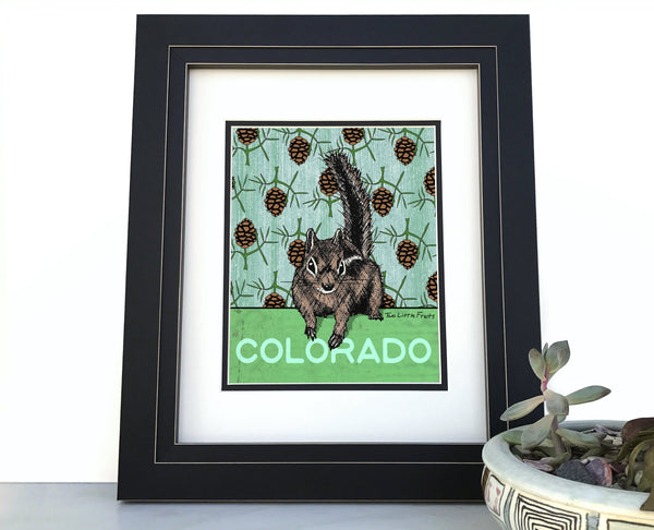 Colorado Chipmunk Wall Art Print, Paper Prints - Two Little Fruits