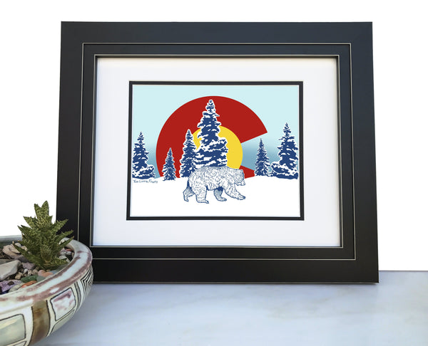 Colorado Bear Art Print, Paper Prints - Two Little Fruits