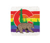 Colorado Rainbow Bear Cork Coaster-Coasters-Two Little Fruits