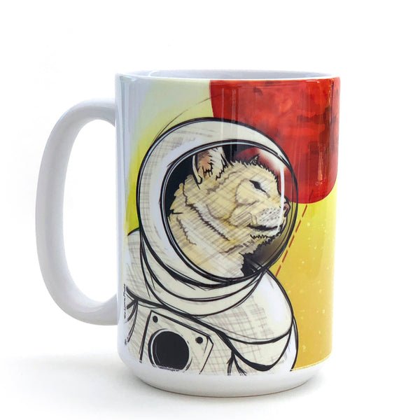 Curiosity Space Cat 15 Oz. Coffee Mug, Mug - Two Little Fruits