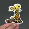 Giraffe Construction Worker Manhole Sticker