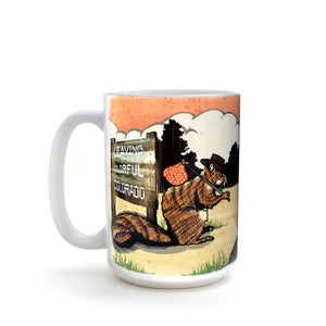 Hobo Squirrel 15 Oz. Coffee Mug-Mug-Two Little Fruits