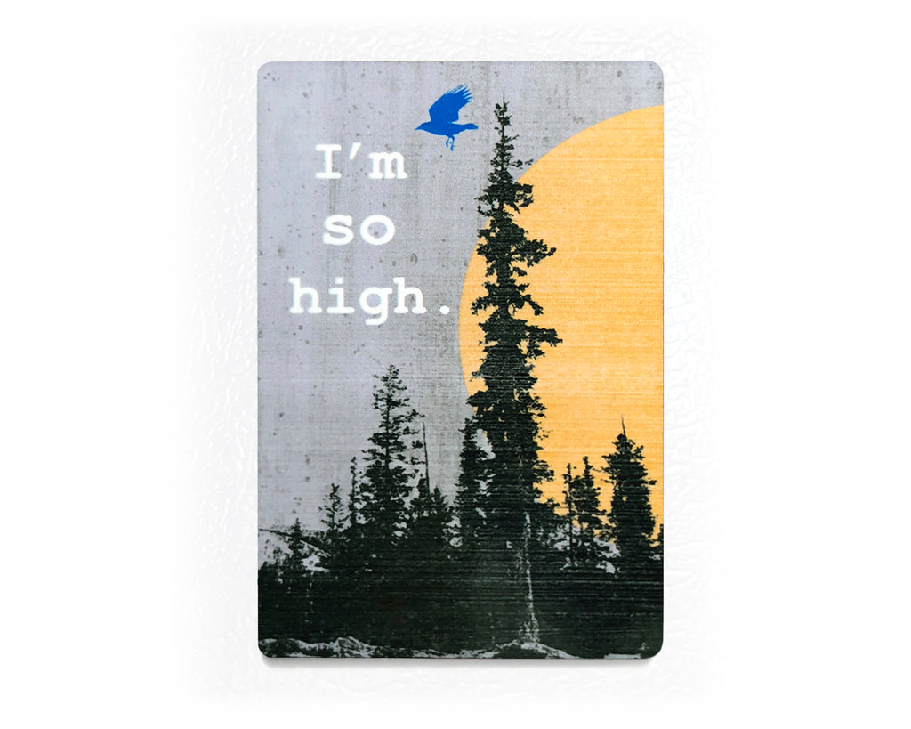 I'm So High Fridge Magnet - Nature Kitchen Decor, Fridge Magnets - Two Little Fruits