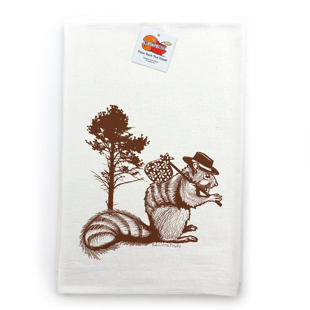 Hobo Brown Squirrel Tea Towel, Tea Towels - Two Little Fruits