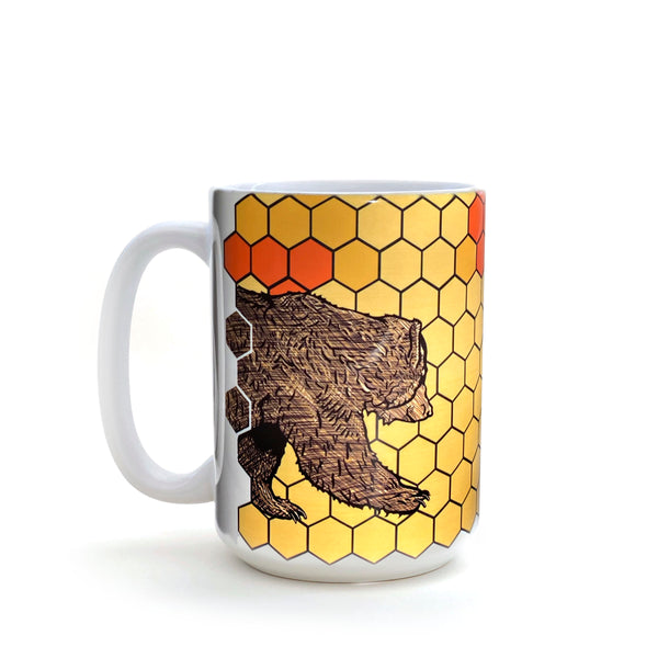 Honeybee and Bear 15 Oz. Coffee Mug, Mug - Two Little Fruits