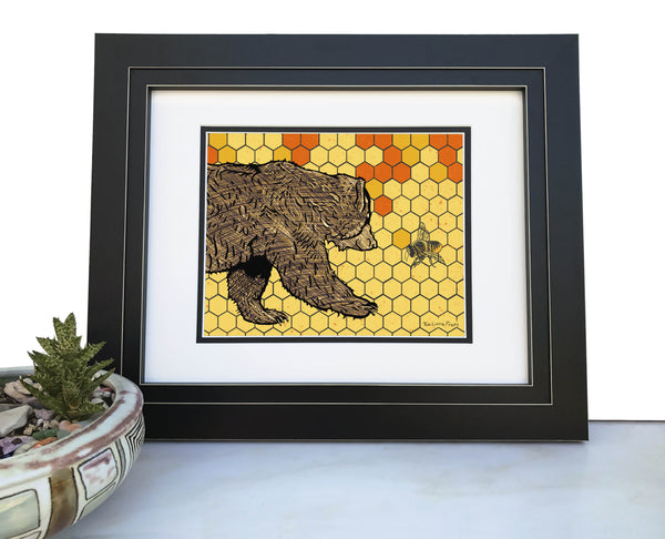 Brown Bear Art Print