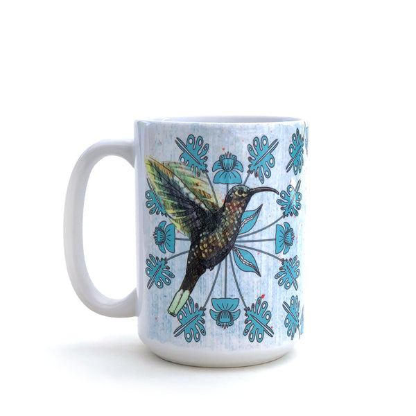Hummingbird Large 15 Oz. Coffee Mug, Mug - Two Little Fruits