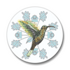 Hummer The Hummingbird Button Pin, Button Pins - Two Little Fruits