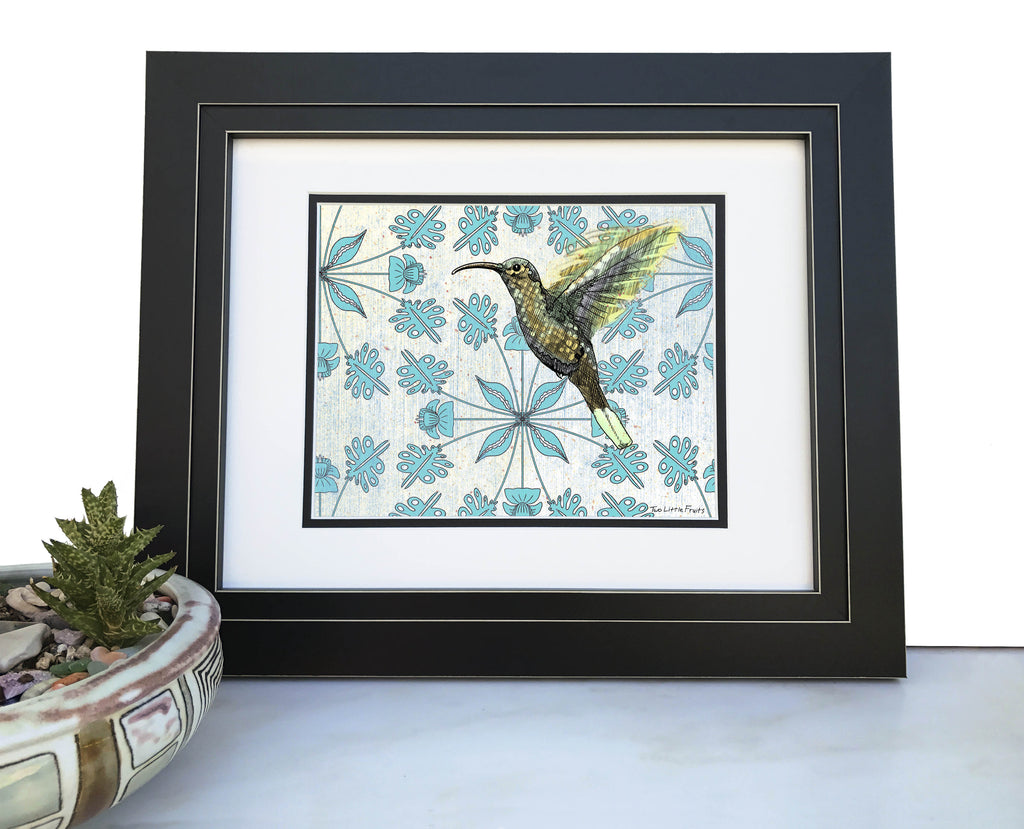 Hummingbird Art Print, Paper Prints - Two Little Fruits