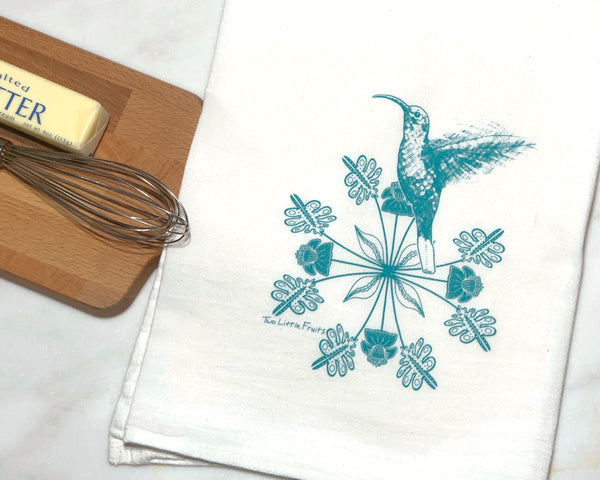 Hummingbird Tea Towel, Tea Towels - Two Little Fruits