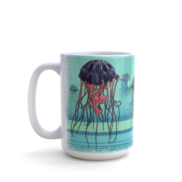 Jellyfish Army 15 Oz. Coffee Mug, Mug - Two Little Fruits