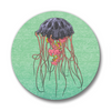 Matte Jellyfish Button Pin, Button Pins - Two Little Fruits