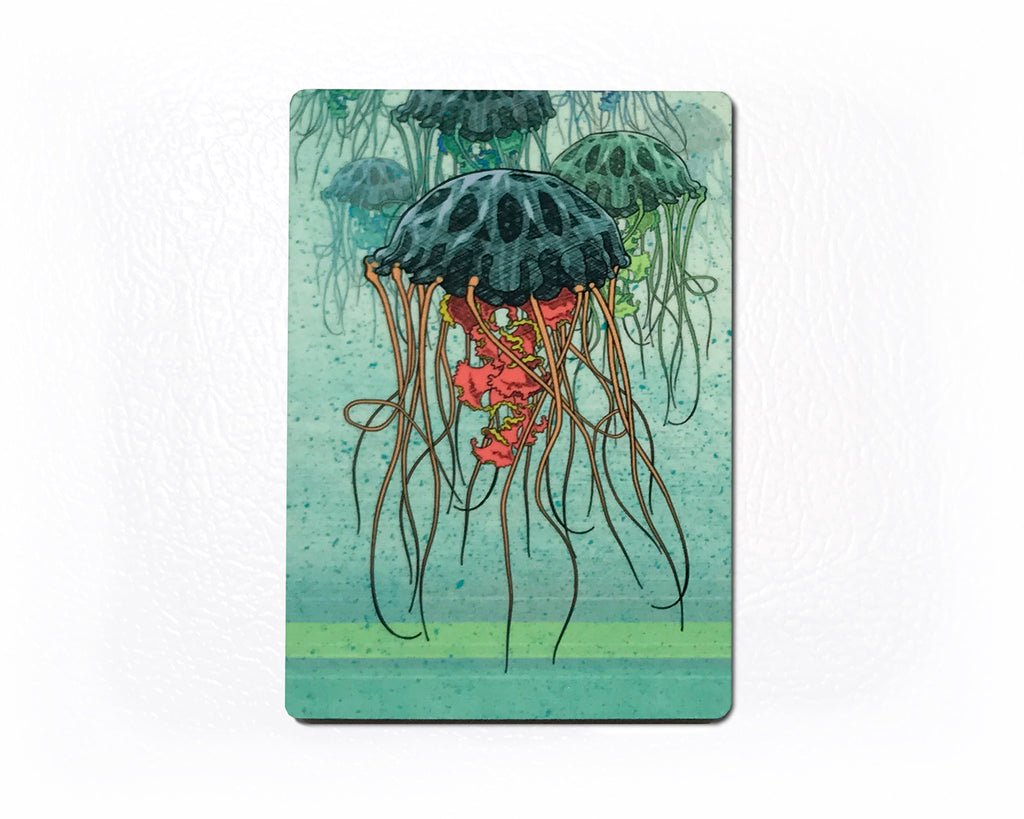Jellyfish Fridge Magnet - Ocean Lover Gift, Fridge Magnets - Two Little Fruits