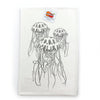 Black Jellyfish Tea Towel