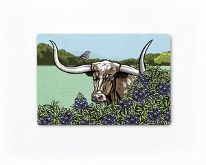 Longhorn Steer Magnet-Fridge Magnets-Two Little Fruits