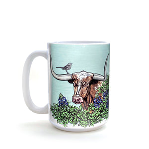 Longhorn Steer 15 Oz. Coffee Mug-Mug-Two Little Fruits