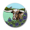 Texas Longhorn Matte Button Pin, Button Pins - Two Little Fruits