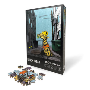 Lunch Break Giraffe 1000 Piece Jigsaw Puzzle-Puzzles-Two Little Fruits