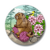 Knitting Marmot Button Pin, Button Pins - Two Little Fruits