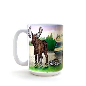 Moose In Boots 15 Oz. Coffee Mug-Mug-Two Little Fruits