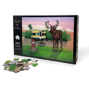 Moose In Boots 1000 Piece Jigsaw Puzzle-Puzzles-Two Little Fruits