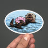 Doughnut Sea Otter Sticker