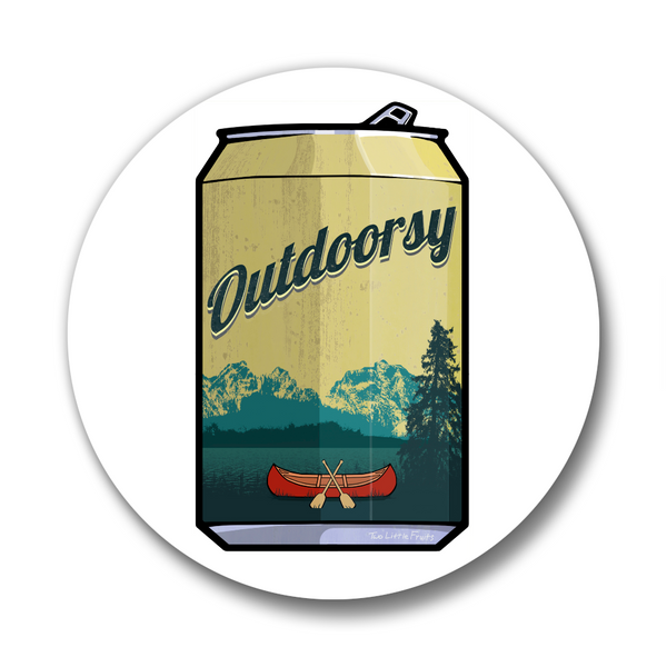Outdoorsy Beer Can Matte Button Pin, Button Pins - Two Little Fruits