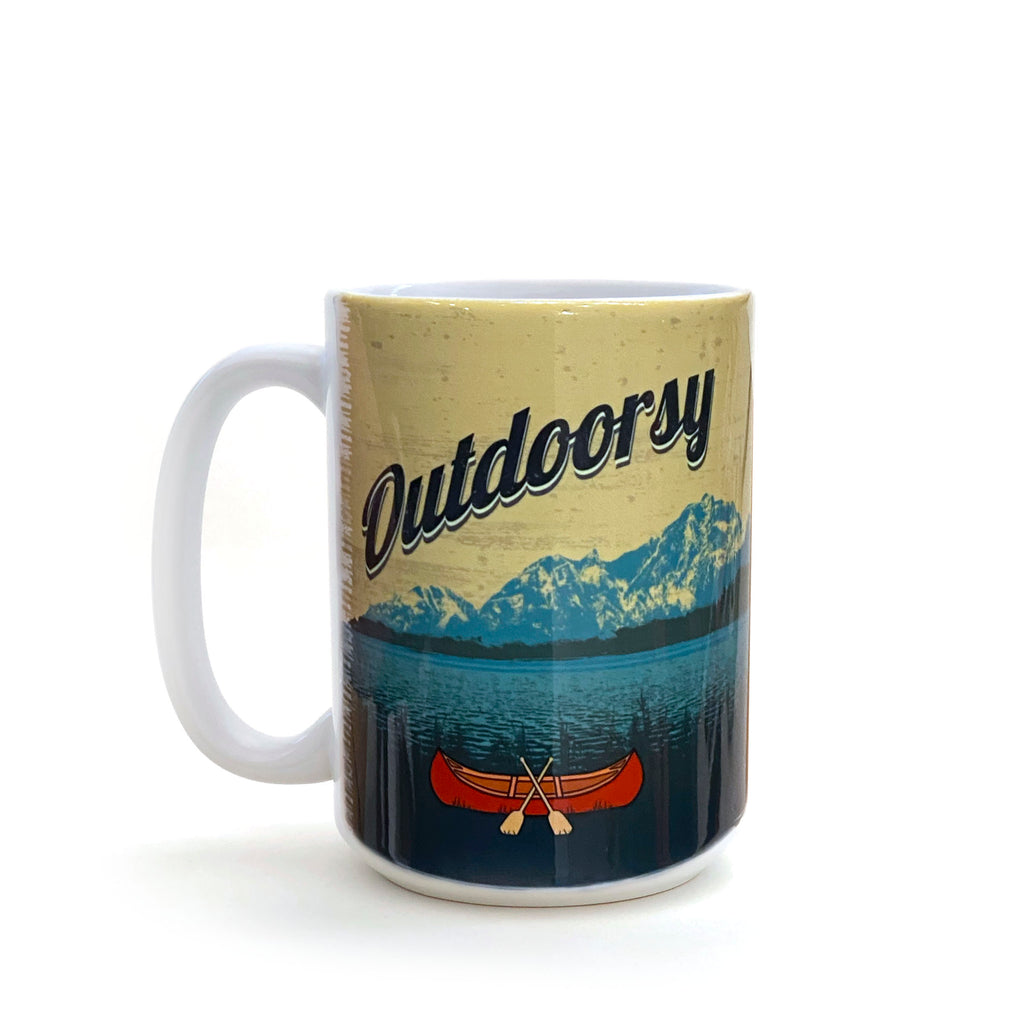 Outdoorsy Canoe 15 Oz. Coffee Mug, Mug - Two Little Fruits