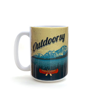 Outdoorsy Canoe 15 Oz. Coffee Mug-Mug-Two Little Fruits