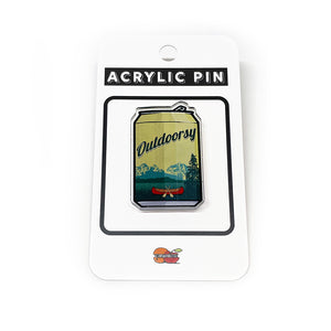 Outdoorsy Canoe Beer Can Acrylic Pin-Acrylic Pin-Two Little Fruits