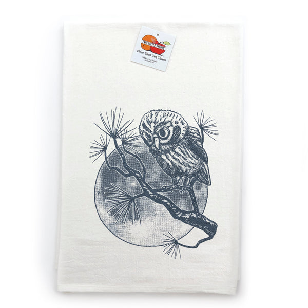 Winter Moon Owl Tea Towel, Tea Towels - Two Little Fruits