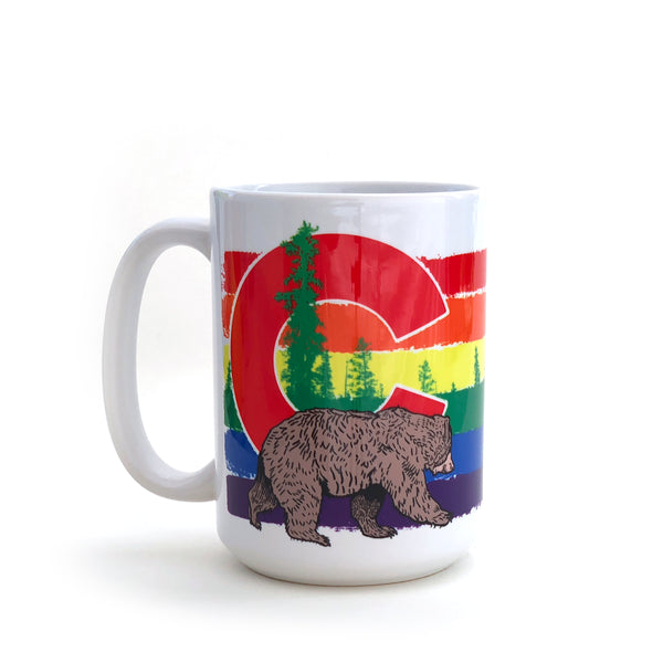 Colorado Pride Bear 15 Oz. Coffee Mug, Mug - Two Little Fruits