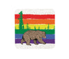 Gay Rainbow Bear Cork Coaster, Coasters - Two Little Fruits