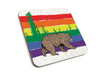 Rainbow Bear Cork Coaster-Coasters-Two Little Fruits