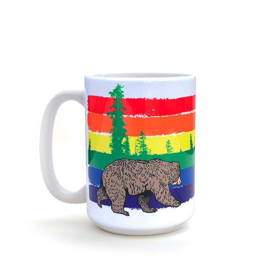LGBT Rainbow Bear 15 Oz. Coffee Mug, Mug - Two Little Fruits