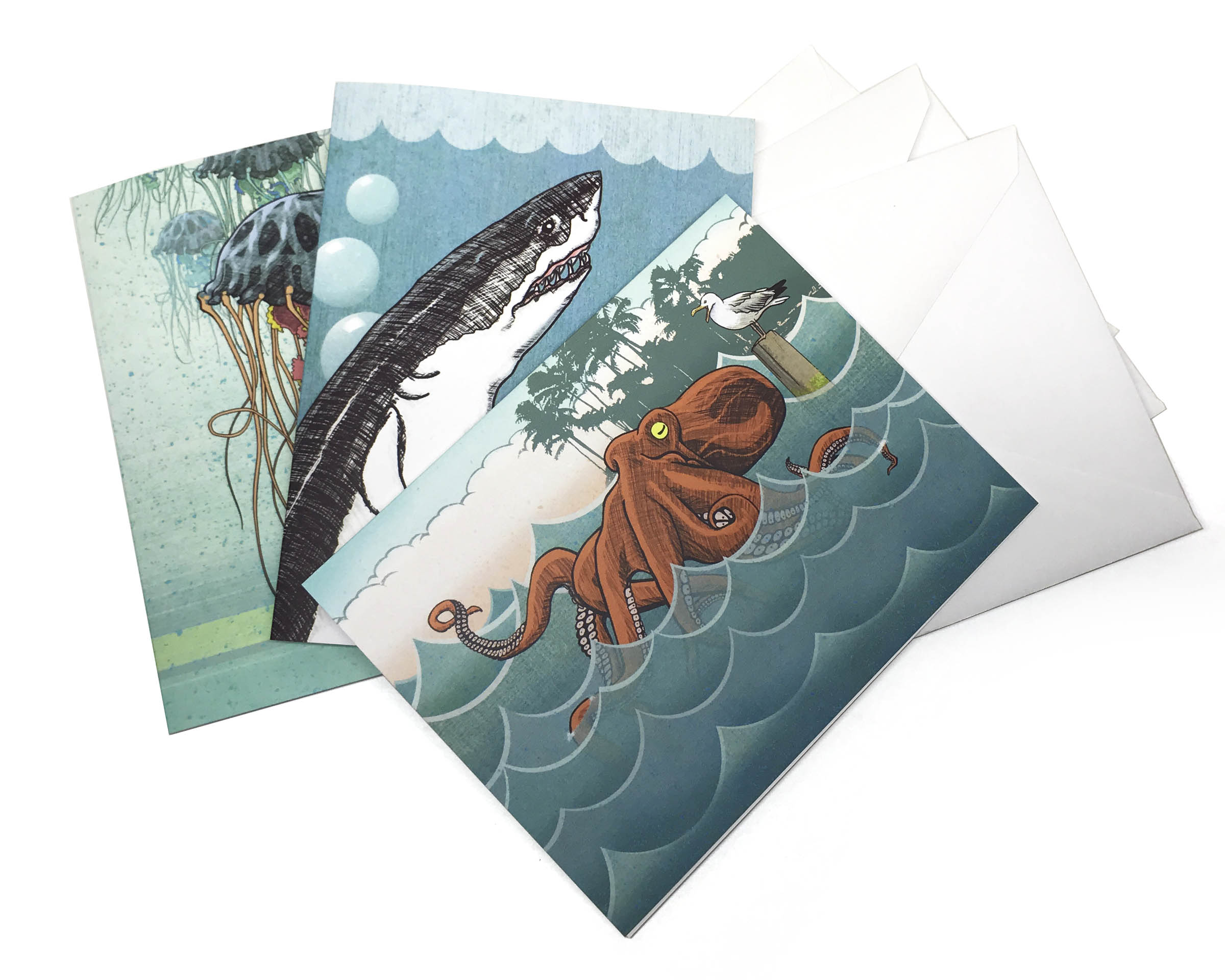 Salty Friends Greeting Card Bundle Two Little Fruits